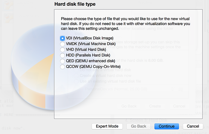 Hard disk file type